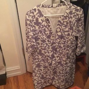 J crew long sleeve cotton dress